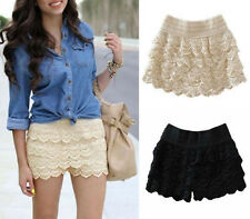 Fashion Women's Sweet Crochet Lace Shorts Skirt Shorts Hot