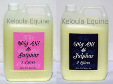 The Pig Oil Company-PIG OIL & SULPHUR- 5 Litres-Ideal for Mane,Tail and Feathers