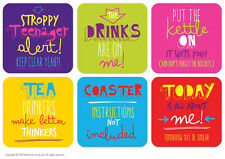 Brainbox Candy drinks coasters, beer mats funny new home gift birthday present
