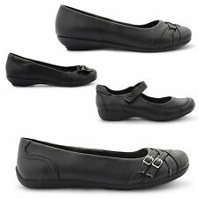NEW LADIES FLAT BALLET DOLLY CASUAL PUMPS MARY JANE SCHOOL WORK SHOES UK 3-8