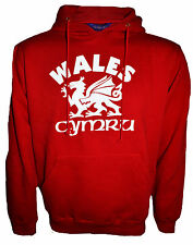 MEN WOMENS LADIES WELSH WALES CYMRU NATIONAL ANTHEM HOODIE SWEATSHIRT JACKET TOP