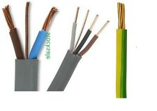 Twin+ Earth Cable 3Core & Earth Cable All Sizes&Lengths1mm,1.5mm,2.5mm10mm,16mm