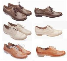 NEW Women Classic Casual Leather  Lace Up Formal Shoes Size UK 4, 5, 6, 7, 8