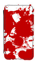 Blood Splatter PU Leather Phone Cover Case True Blood Dexter Zombie Spartacus