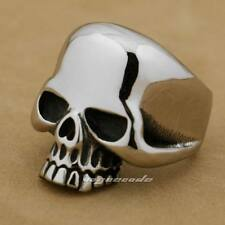 316L Stainless Steel Skull Mens Biker Rocker Ring 6Q002