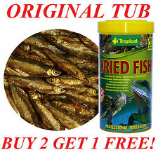 DRIED FISH NATURAL FOOD FOR REPTILES, TURTLES, LARGE TROPICAL FISHES 250ML
