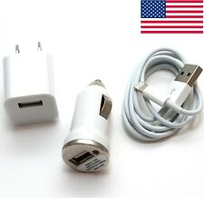 8PIN Wall +Car Charger+Data Cable for iPhone 5 5s 5c iPod touch 5 Nano7 Mini LOT