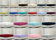 """Non Iron Easy Care Percale Extra Deep 16""""or 40 cm Fitted Bed Sheets / PillowCase"""