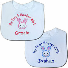 Personalised First/1st Easter Bunny Baby Bib - Girl/Boy - Great Gift