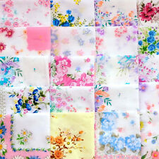 10 PCS Flower Pocket Square Hankerchief Hanky Plain Color For Wedding Party