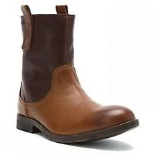 CLARKS GOBY CHLSEA MENS BROWN LEATHER BOOTS STYLE #67472