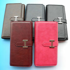 Men Women Nice PU Leather Wallet POUCH Case Cover For Prestigio MultiPhone