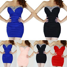 Hot Womens Sexy Strapless Mini / Short Cocktail Prom Party Ball Evening Dress