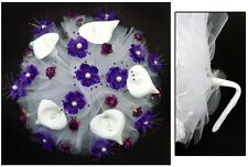 New! Bridal - Quinceanera - Sweet 15 Hand-Made Bouquet - Purple ( # E18910 )