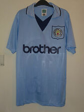 Bnwt Manchester City Home SS Retro 1996 Football Shirt Score Draw