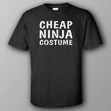 BLACK funny HALLOWEEN T-shirt CHEAP NINJA COSTUME