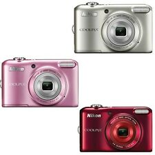 Nikon Coolpix L28 Digital Camera (Pink, Red or Silver)