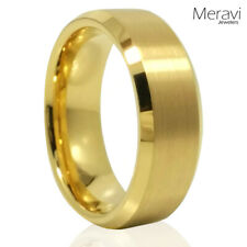 Tungsten Carbide 18k Gold GP Wedding Engagement Band Promise Ring Mens Classic