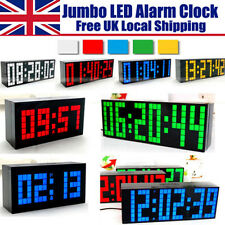 Digital Large Big Jumbo LED Snooze Calendar with Temp Wall Desk Alarm Clock - UK