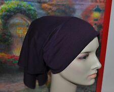 New Cotton Lycra Bandana Style Tube Under Scarf Shawl Hijab Hair Loss Chemo Tube