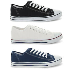 New Tokyo Laundry Low Top Lace Up Canvas Trainers Plimsoles Shoes Size 7-11