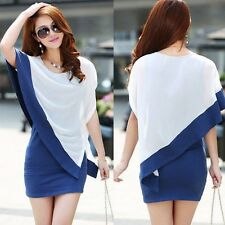 Women's Sexy Summer Casual Chiffon Short Mini Evening Cocktail Party Lady Dress