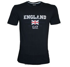 EMPORIO ARMANI EA7 ENGLAND T-SHIRT WITH UNION FLAG LOGO