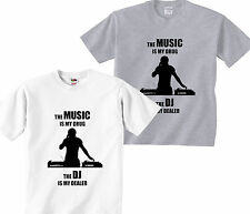 DJ Dealer Trance Hardstyle T Shirts Mens Tee Top Clothing Vinyl Turntable Funny