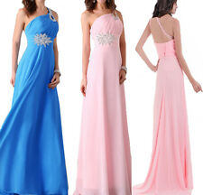 Lady Wedding Bridesmaid Cocktail Evening Prom Gown Sequin Chiffon Formal Dress