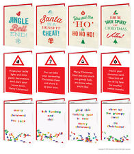 Brainbox Candy Christmas Xmas Greeting Cards rude cheeky humour joke adult