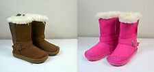 OshKosh Toddler Girl's Brown Faux Suede~Fur Brown Pink Tessie Boots 6, 8, 9  NWT
