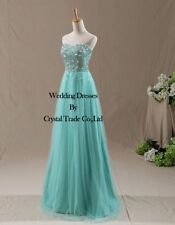 Mint Tulle Long Prom Bridesmaid Dresses Evening Formal Gowns SZ 6+8+10+12+14+16