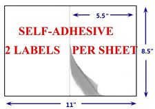 "Premium Self Adhesive Mailing Shipping Labels 8.5x5.5  8.5"" X 5.5"" HIGH QUALITY"