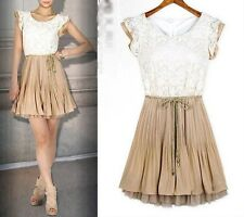 2014 spring summer new womens Court style Retro Lace Sleeveless vest dress