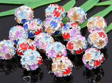 20/50Pcs Colorful Crystal Ball Spacer Beads Findings 10mm