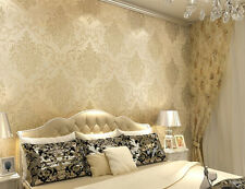 Embossed Texture Flower European Luxury Gorgeous Classic Floral Damask Wallpaper