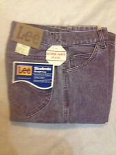 New Original Vintage Lee Rider Student Super Soft Maroon Jeans 25x30-29x34