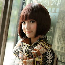 New Womens Natural Short Straight BoB Hair Cosplay Costume Full Synthetic Wig