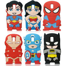 2014 NEW! Cartoon COOL Superhero Soft Silicone Rubber Case For Samsung Galaxy S5
