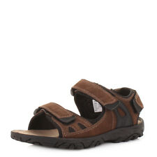 MENS BROWN NUBUCK LEATHER VELCRO SPORTS ACTIVTY VELCRO STRAP SANDALS SIZE 6-12