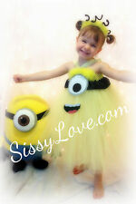 Minion Despicable Me Tutu Costume Halloween Tu Tu Prop Party Dress Dance Ballet