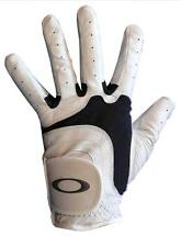 OAKLEY WHITE LEATHER GOLF GLOVE LEFT HAND CHOICE OF SIZE NEW