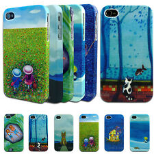 NEW Cute Rubberised Hard Back Case for Apple iPhone 5 5S 4S 4 Plastic Cover