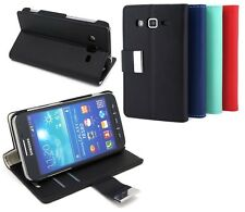 Wallet Leather Case Cover + Film For Samsung Galaxy Core Advance i8580 #k