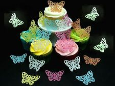 20 x (XL) EASTER BUTTERFLIES FAIRY CUP CAKE EDIBLE RICE WAFER PAPER TOPPERS