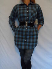 WOMANS LADIES100%WARMBRUSHEDCOTTONCHECKLONGSTYLE DRESS SHIRT PERFECT FOR WINTER!