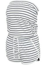URBAN CLASSICS Ladies Stripe Hot Jumpsuit Overall trägerlos sexy Shorty