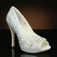 "Benjamin Adams ""High-Shine"" Ivory Crystal Wedding shoe"