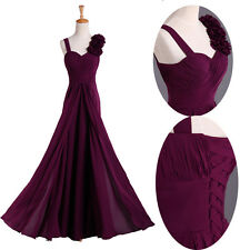 JS GK Purple Chiffon Formal Cocktail Prom Mermaid Gown Party Evening Long Dress