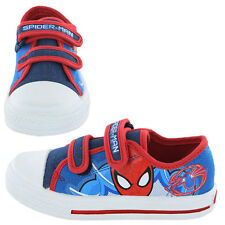 Spiderman Parkway Canvas Boys Trainers - Blue/Red/Velcro (7,8,9,10,11,12,13,1)